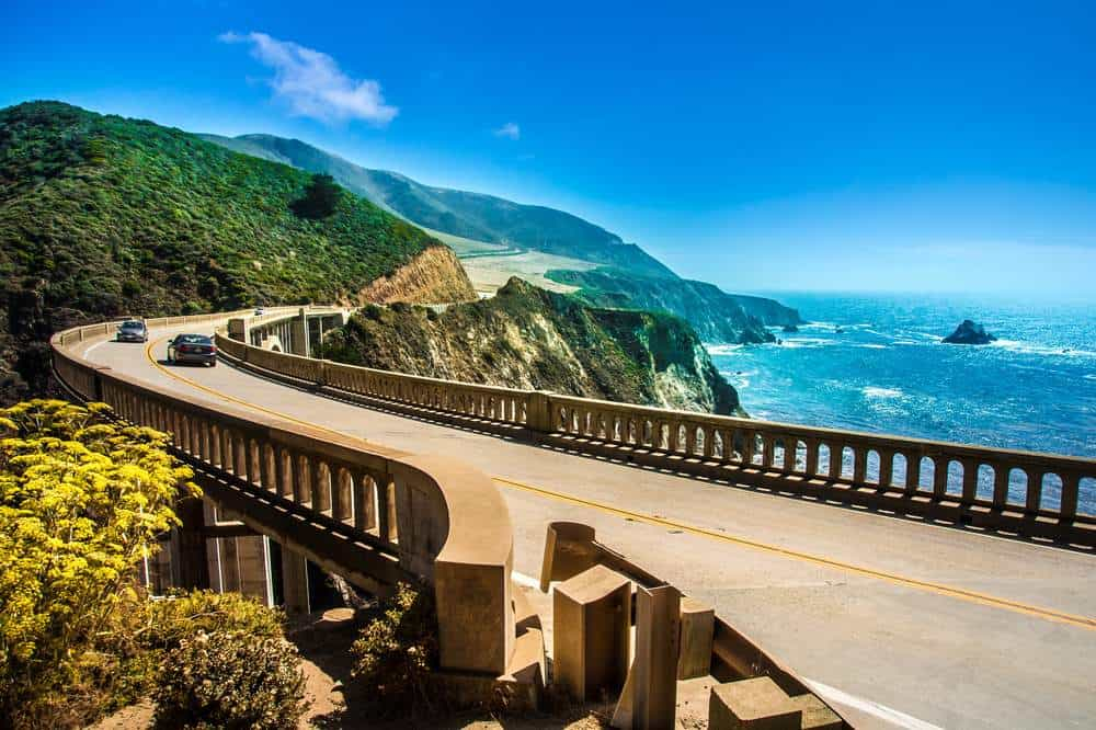 The stretch of coast from Los Angeles to San Francisco is some of the most scenic in the U.S.