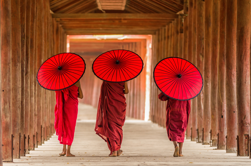 Buddhist Novices in Myanmar