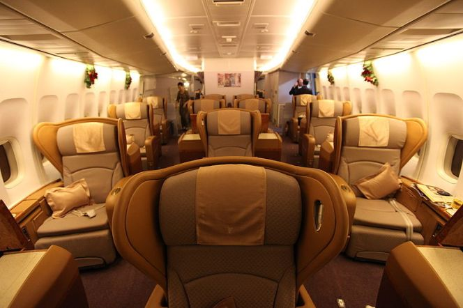 Singapore Air First Class 747