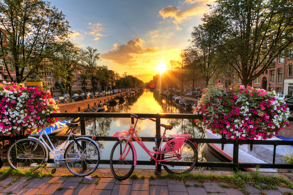 Bike around Amsterdam on your stopover