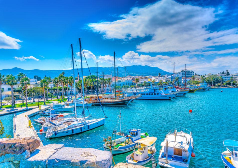 Kos Port in Greece