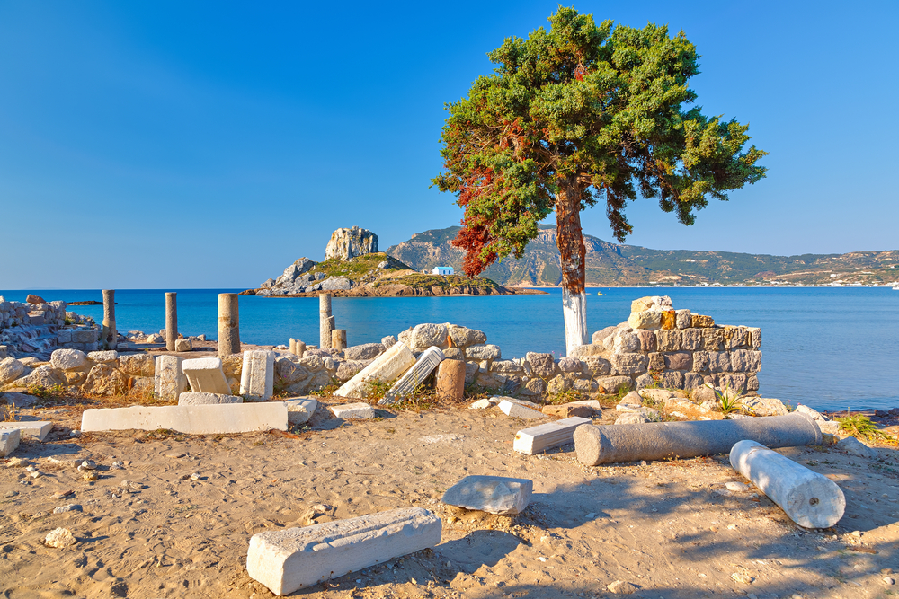 ancient ruins in Kos, Greece
