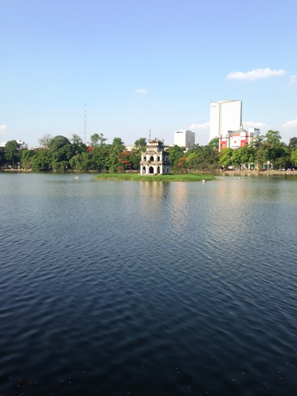 Turtle Tower at Hoan Kiem Lake