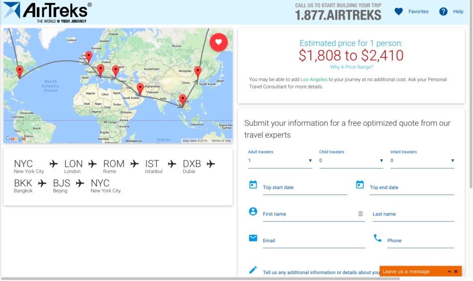 5 RTW Routes for $2000
